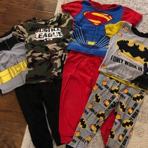 Bundle of 3 sets of Superhero Pajamas